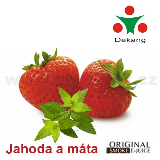 Jahoda s mátou / Strawberry mint - E-liquid náplň DEKANG - 30ml - 11 mg