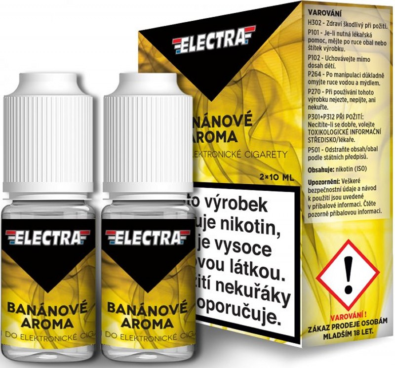 E-liquid Electra 2Pack Banán, 2x10ml - 12 mg