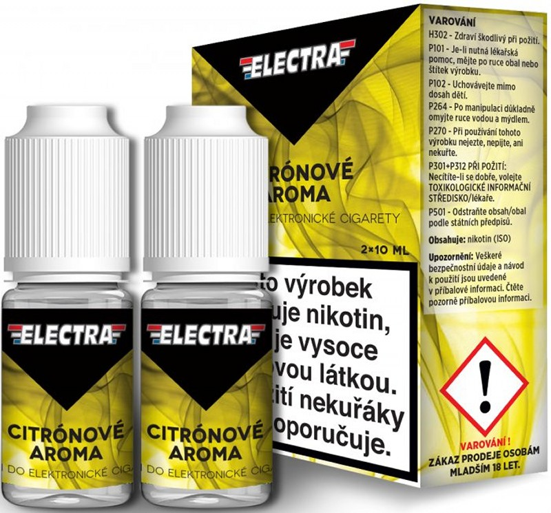 E-liquid Electra 2Pack Citron, 2x10ml - 12 mg
